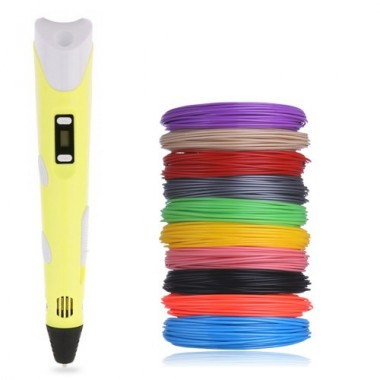 3D ручка PEN-2 UTM  Желтая c LCD дисплеем и набором пластика - 100 м