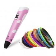 3D ручка PEN-2 UTM Розовая c LCD дисплеем и набором пластика-30 м