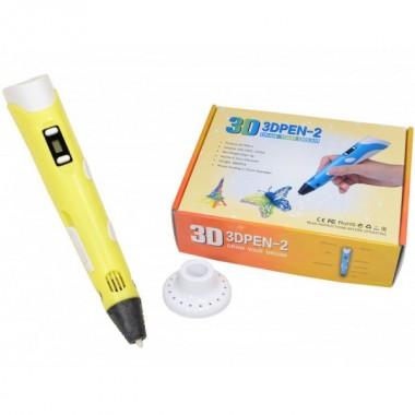 3D ручка PEN-2 UTM c LCD дисплеем и набором пластика - 30 м Желтая