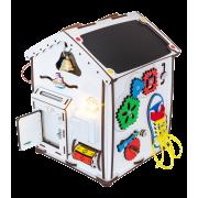 Бизиборд ID&ND домик развивающий с подсветкой 28х28х35