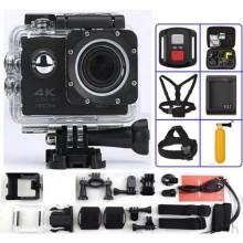 Экшн-камера с пультом SPORTS CAM RoHS H16-6R 4K Wi-Fi+WRIST RF  Black