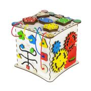 Бизиборд ID&ND кубик развивающий 25х25х25