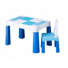 Детский столик Tega Baby для творчества и 1 креслице Blue (MF001120)
